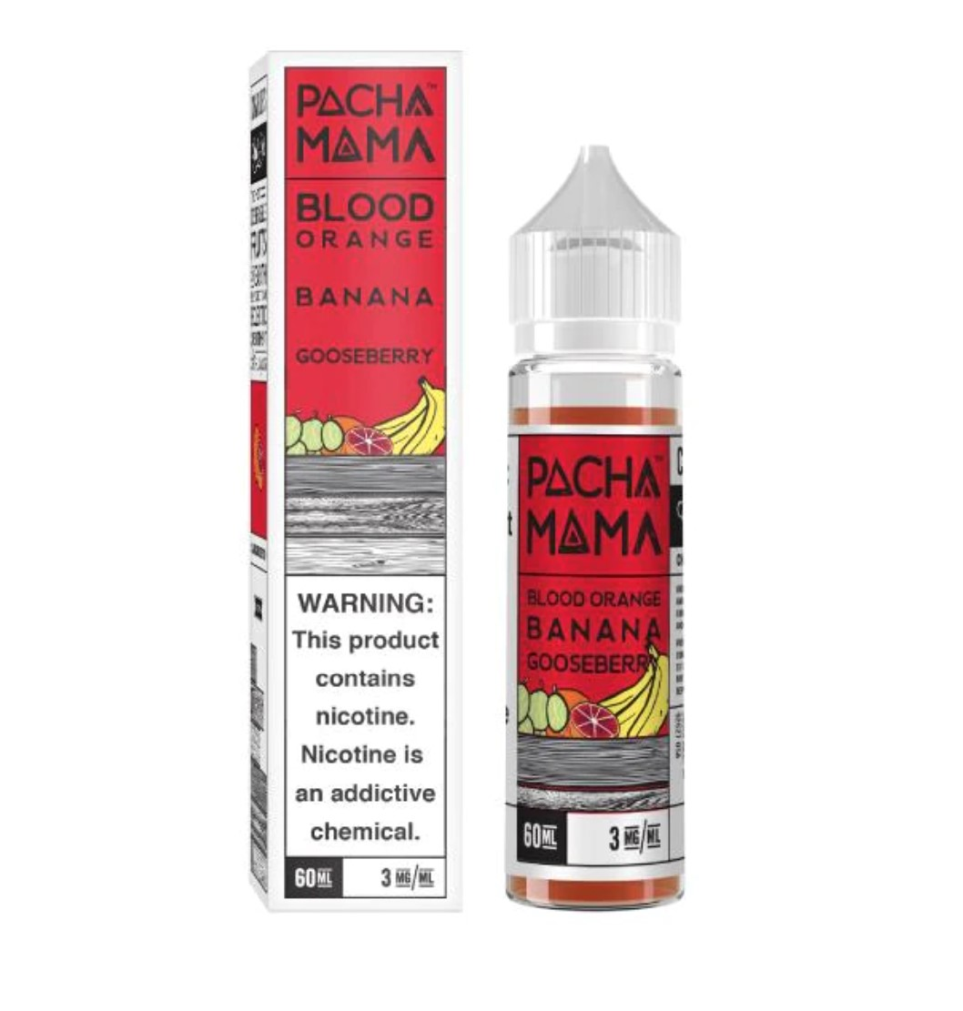 Pachamama Blood Orange Banana Gooseberry 60ml 3mg