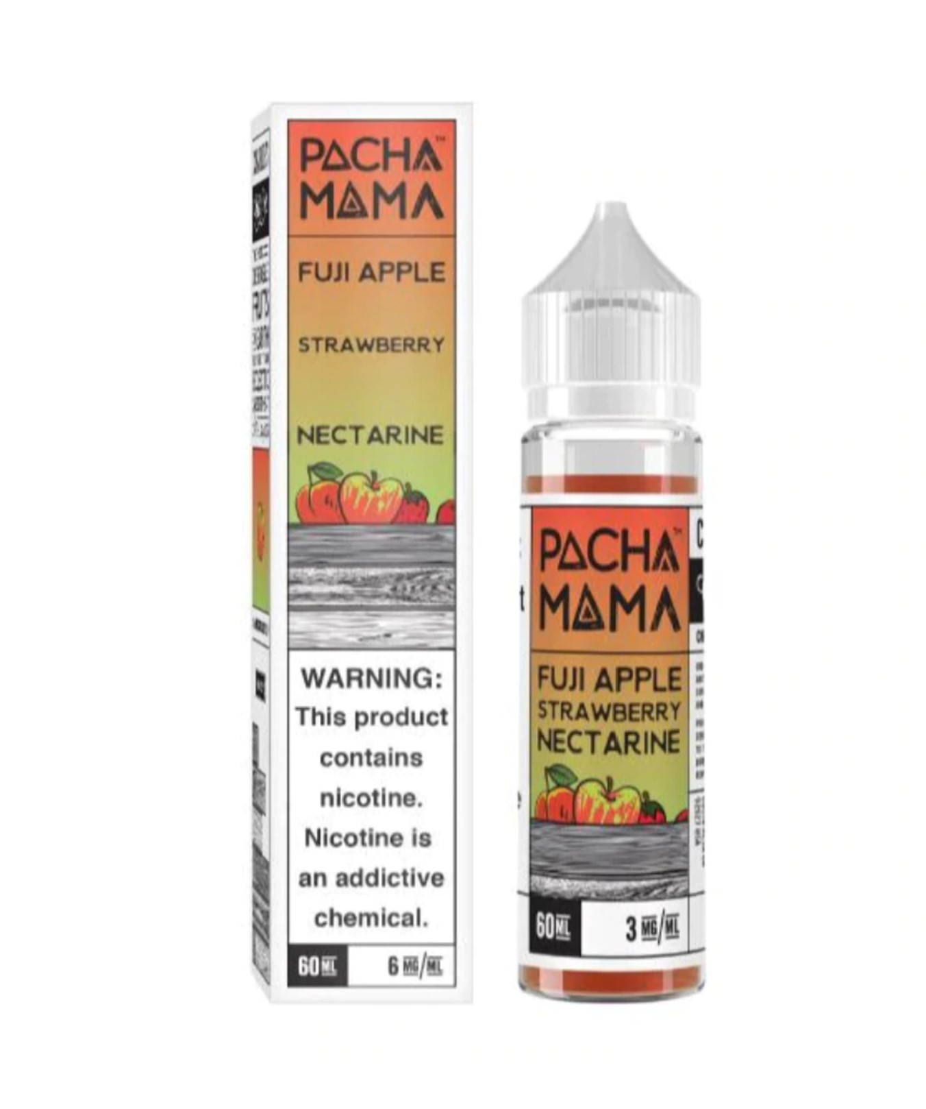 Pachamama Fuji Apple Strawberry Nectarine 60ml 3mg