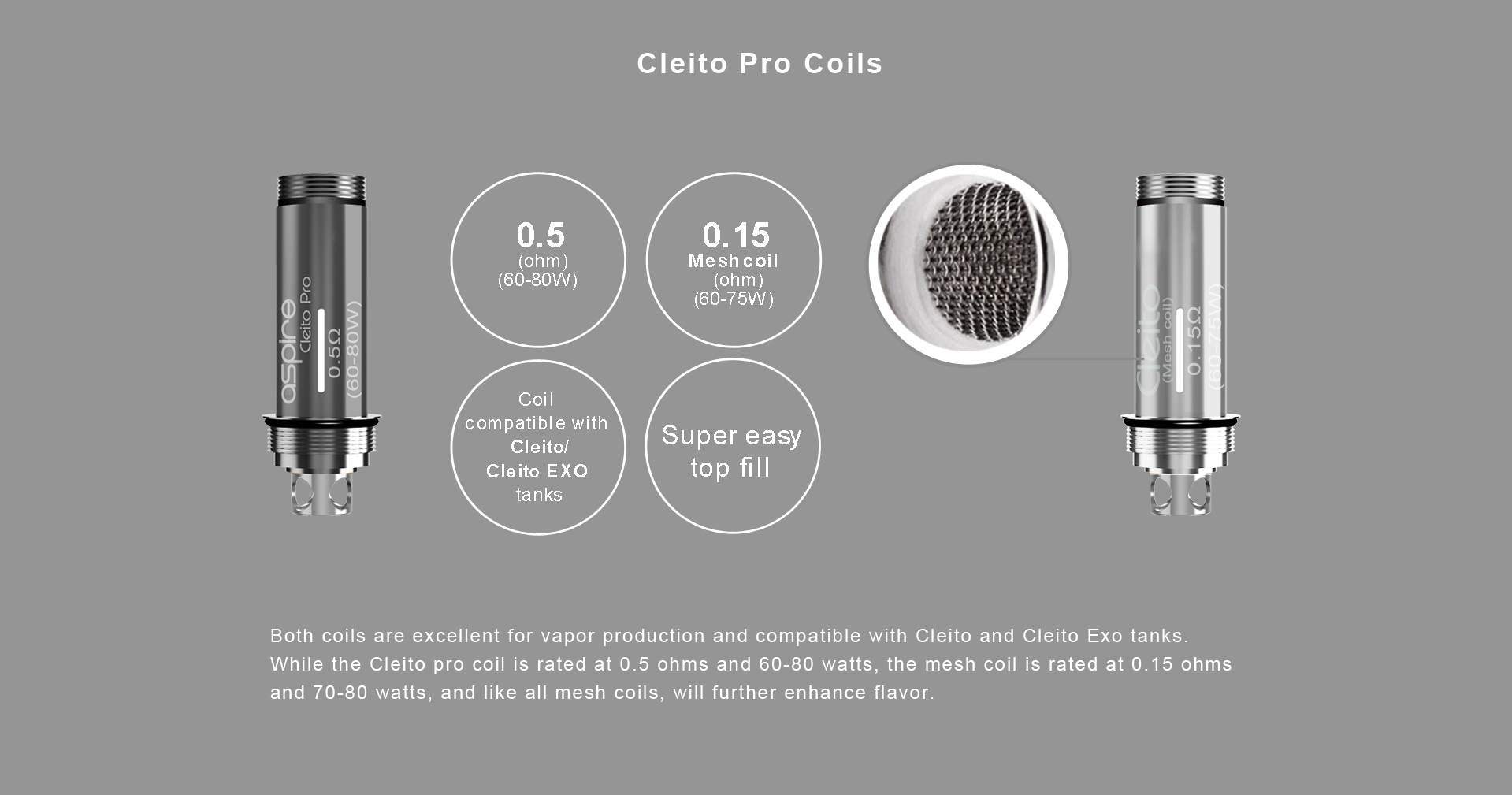 Aspire Cleito Pro Coil 0.5ohm - Single