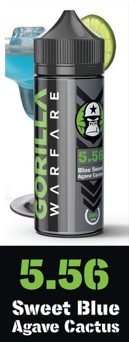 5.56 BMG - GORILLA WARFARE 120ml Ejuice 3mg