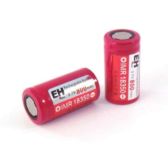 IMR 18350 800mah EH Battery - Flat Top