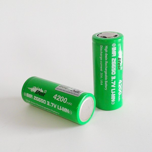 IMR 26650 4200mah Efest Battery - 50 Amp High Drain - Flat Top
