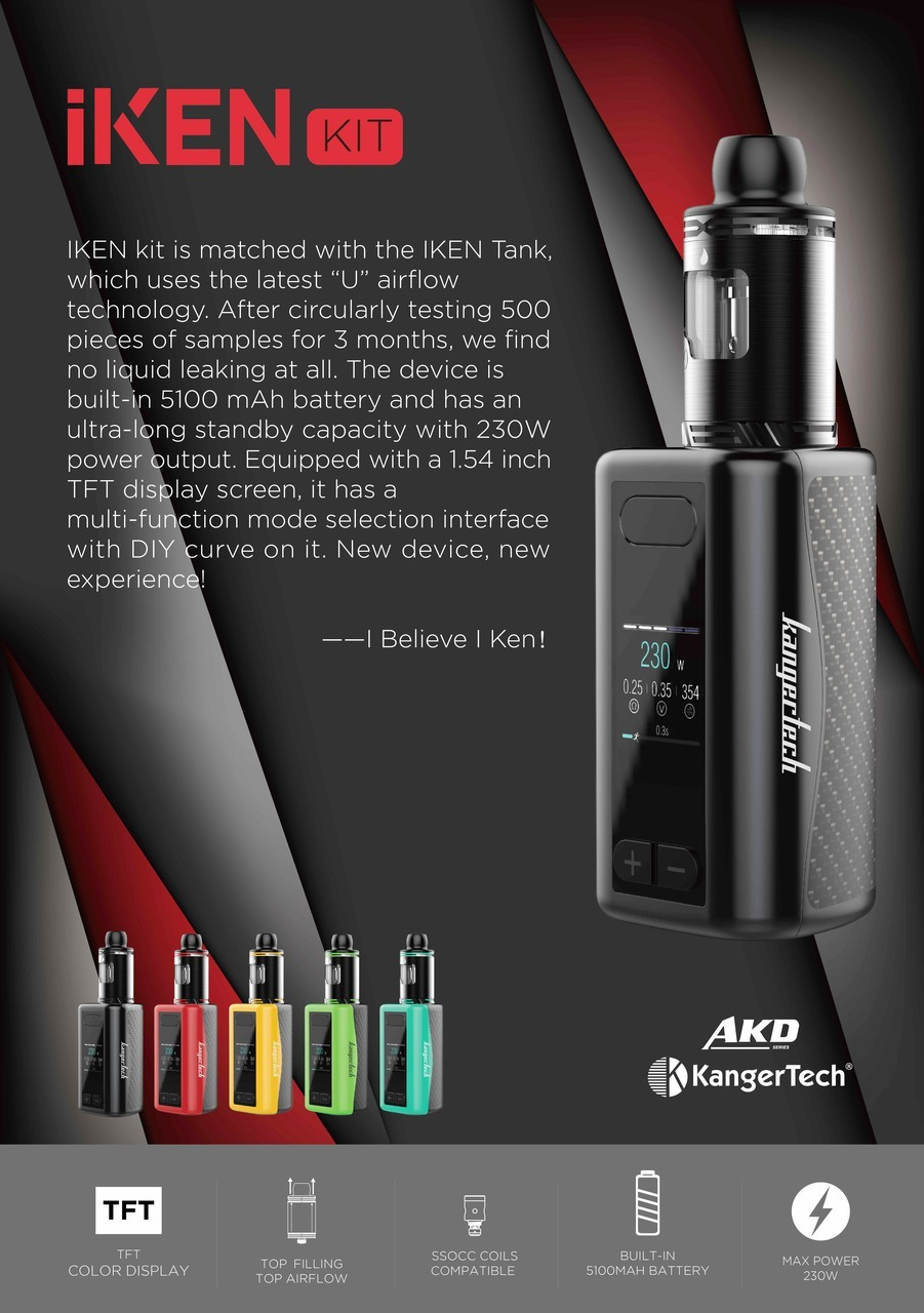 KangerTech iKEN Kit - Black
