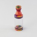 Vash Short Regular Tank with Clear Tube - Orange / Purple