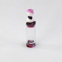 Vash XL Slim Tank with Clear Tube - Pink / Black
