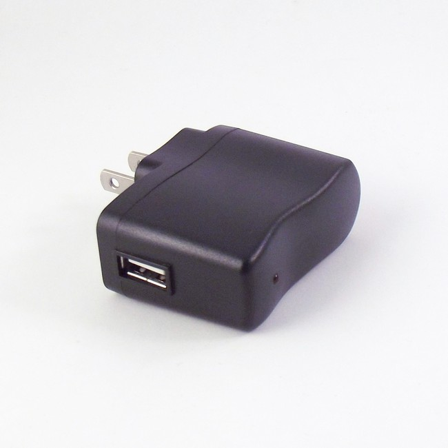 Wall Adapter for USB Battery Charger - Black