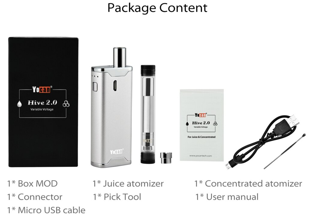 Yocan Hive 2.0 650mah Wax All In One Vaporizer Kit