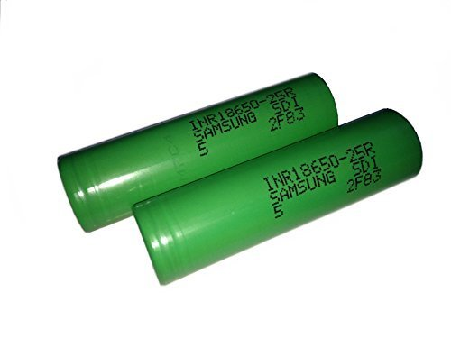 Samsung INR18650-25R 2500mah Flat Top Battery - 20amp