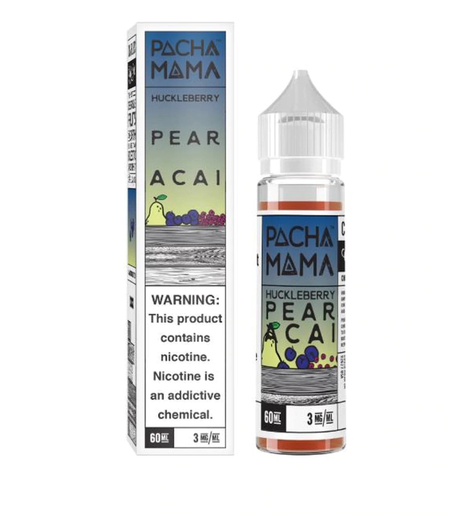 Pachamama Huckleberry Pear Acai 60ml 3mg