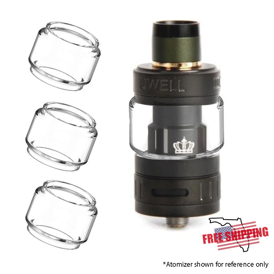 Uwell Crown 3 Extended Replacement Glass - 3pk