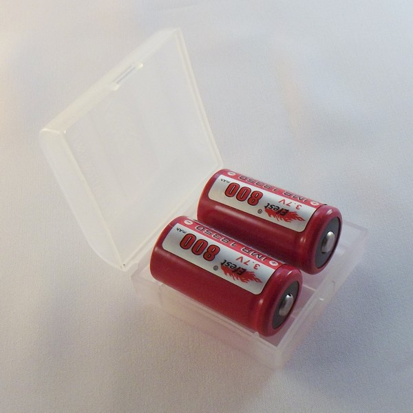 Battery Case 2x18350 Clear Plastic