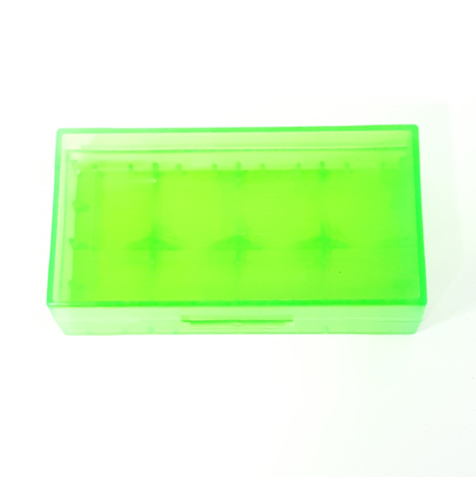 Battery Case 2x18650 Translucent Green Plastic