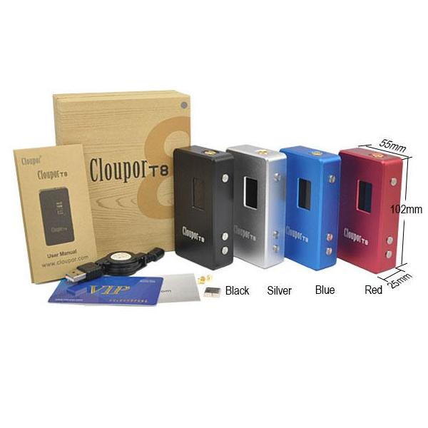 Cloupor T6 100W 26650 Box Mod - Blue