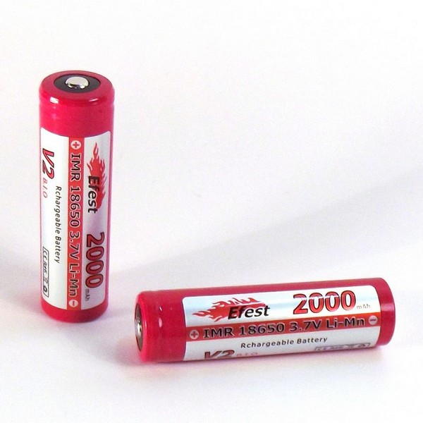 IMR 18650 2000mah Efest Battery - Button Top