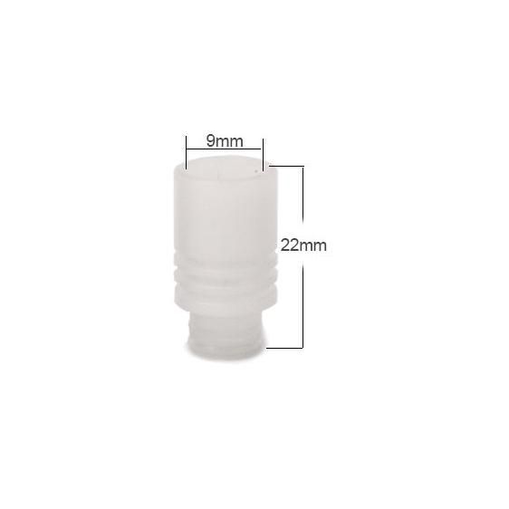 Shorty Delrin Wide Bore 510 Drip Tip - White
