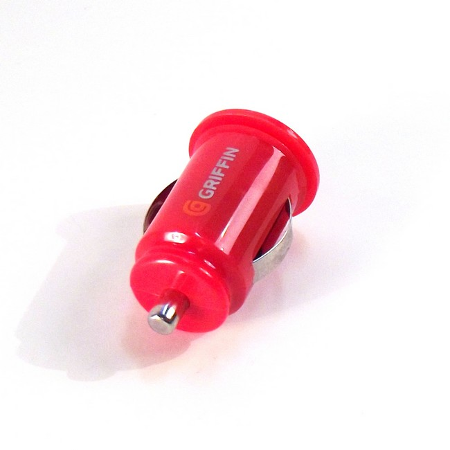 Mini Dual USB Car Charger - Red