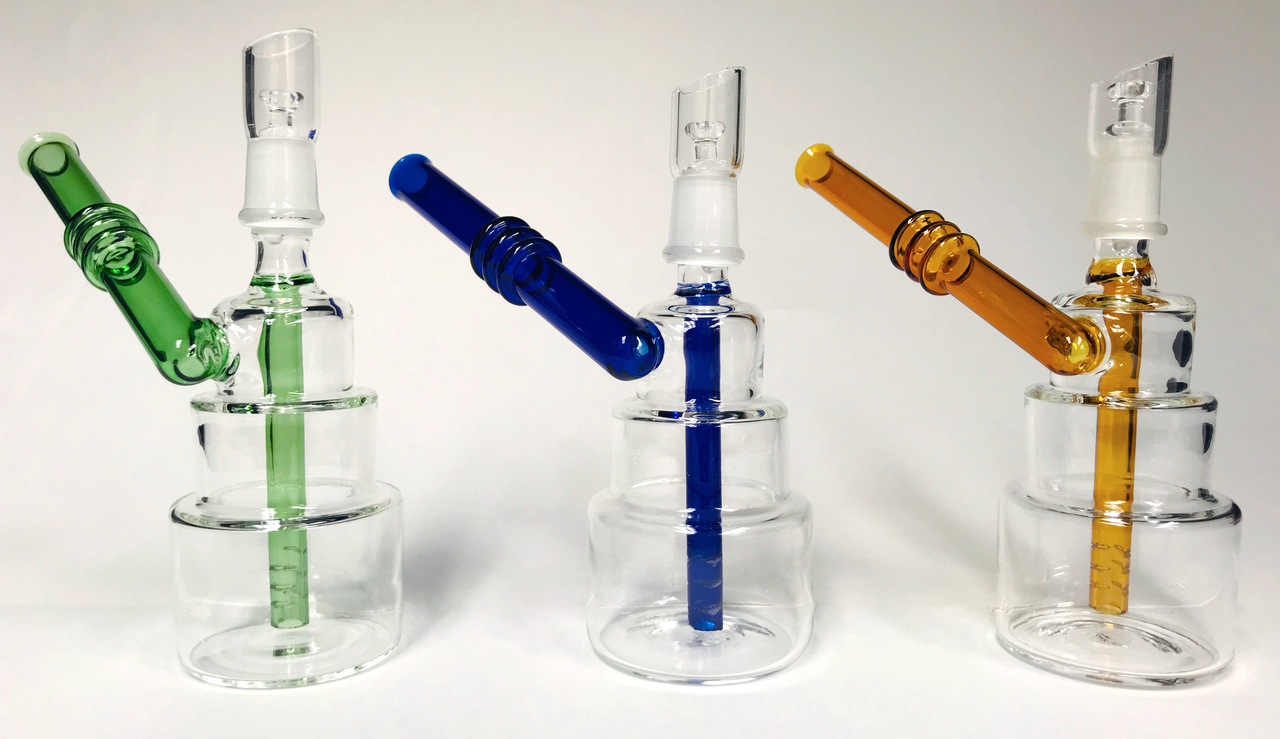 "Cake Stack Bubbler 6"" Waterpipe"