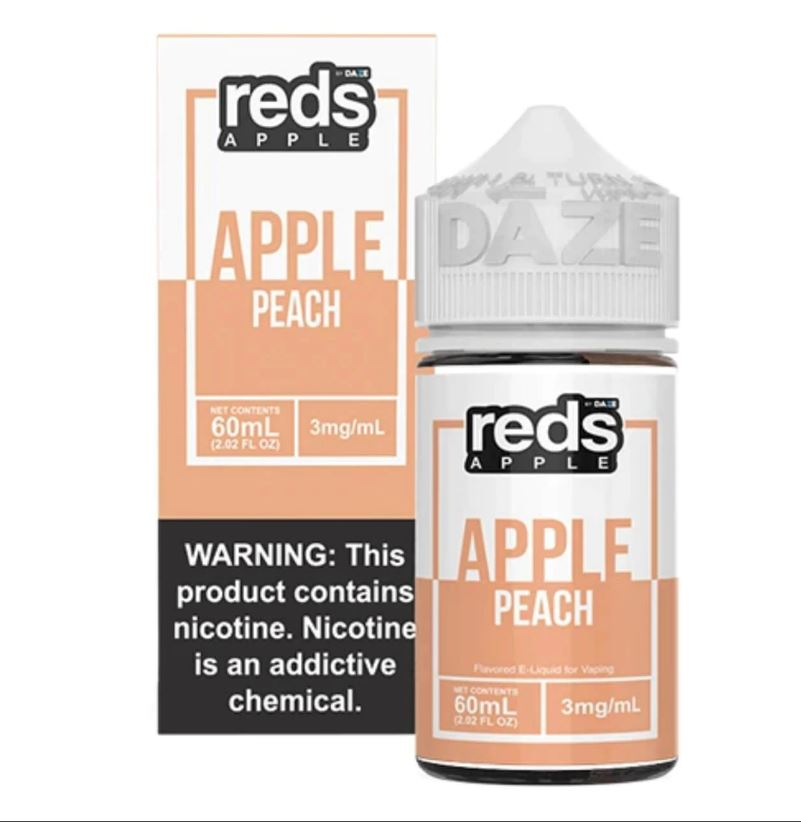 Red's Apple Peach 60ml Ejuice 3mg