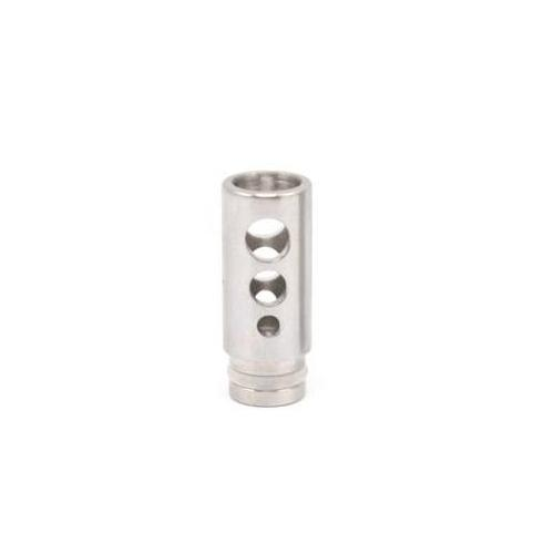 Stainless Steel Wide Bore 510 Drip Tip - Hollow - Round