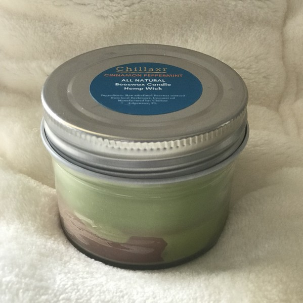 All Natural Beeswax Candle - 4oz Cinnamon Peppermint
