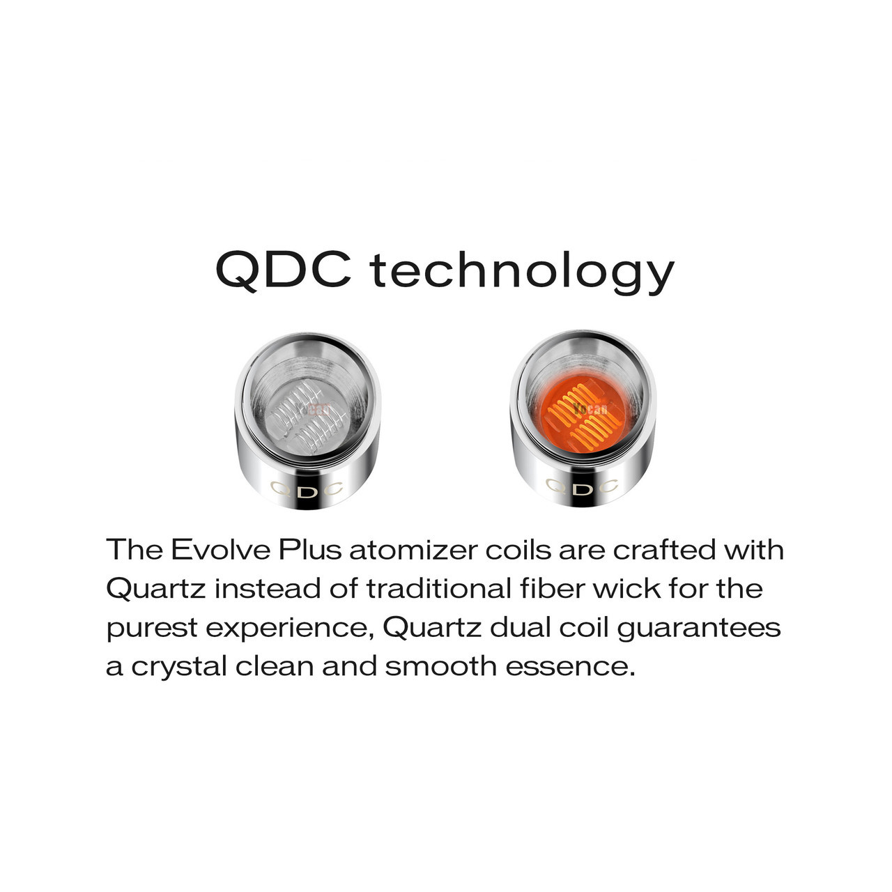 Yocan Evolve Plus Quartz Dual Coils- 5pk